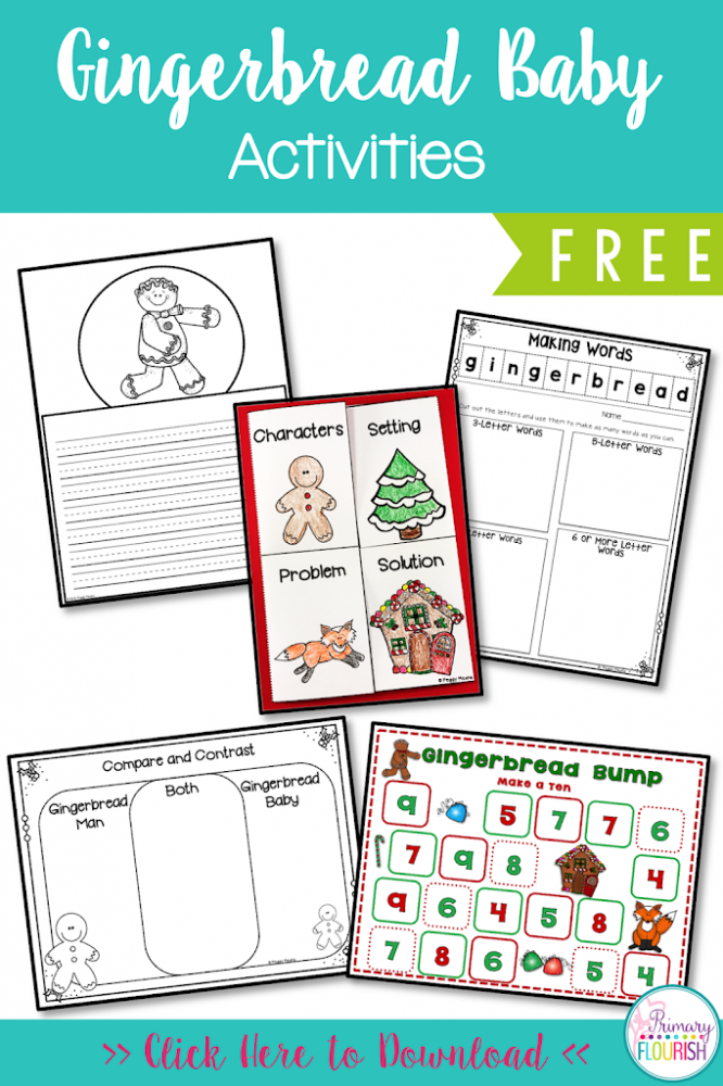 This book companion has various 'Gingerbread' cross-curricular activities: Reading: Retelling the story, Spelling: Word making with the word: Gingerbread, Math: Gingerbread Measuring and Gingerbread Bump