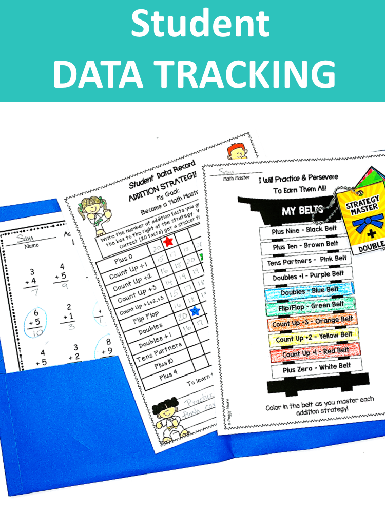 Student data tracking using karate belt and stickers.