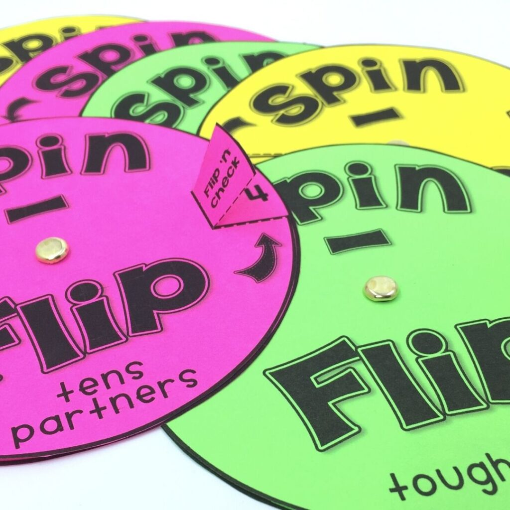 Spinners for differentiated practice